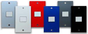 スイッチプレート・MSP-010 Silver,White,Red,Navy , Gray and Black