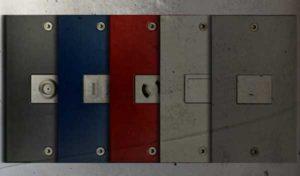 5色のスイッチプレートのイメージ画像