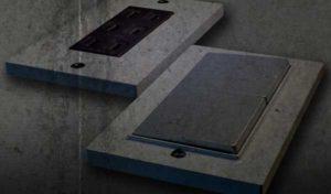 ワイドスイッチプレートの完成品と従来品の写真
